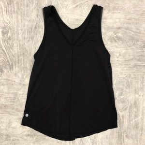 Lululemon tie back tank black v-neck 6